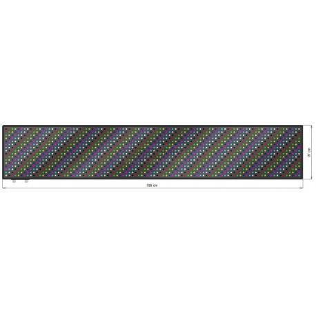 Wyśw. graficz. LED 199 x 37 cm