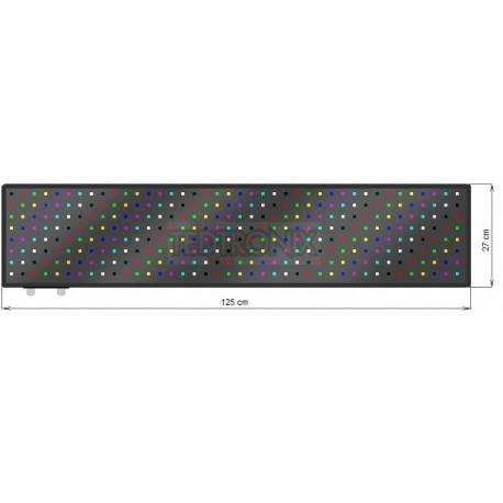 Wyśw. graficz. LED 125 x 27 cm