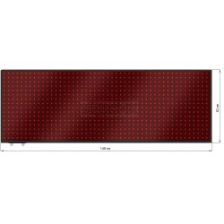 Wyśw. tekstowy LED 149 x 52 cm