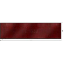 Wyśw. tekstowy LED 198 x 52 cm