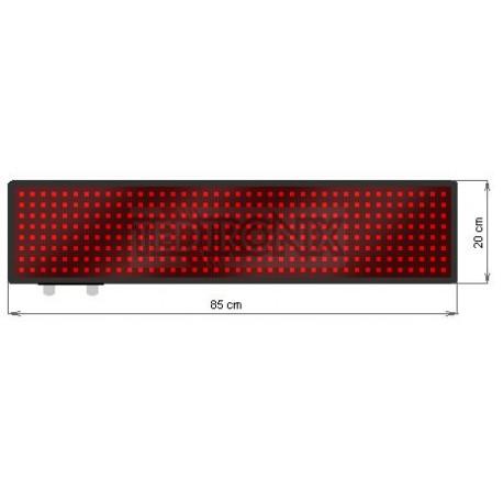 Wyśw. tekstowy LED 85 x 20 cm