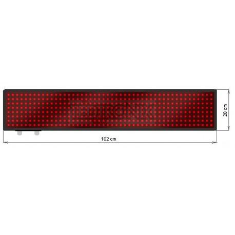 Wyśw. tekstowy LED 102 x 20 cm