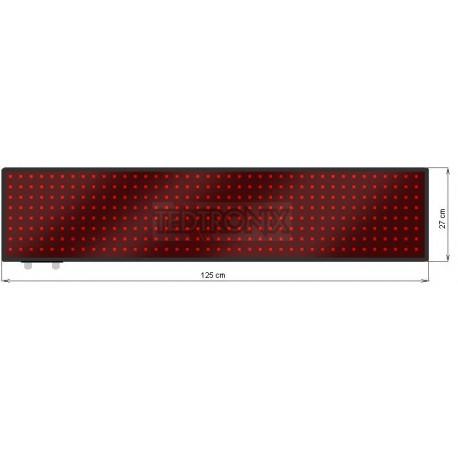 Wyśw. tekstowy LED 125 x 27 cm