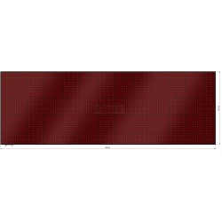 Wyśw. graficz. LED 296 x 101 cm